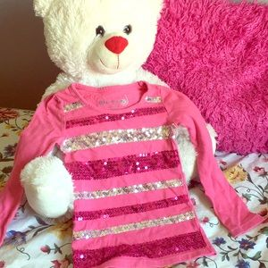 Toddler long sleeve bedazzled shirt